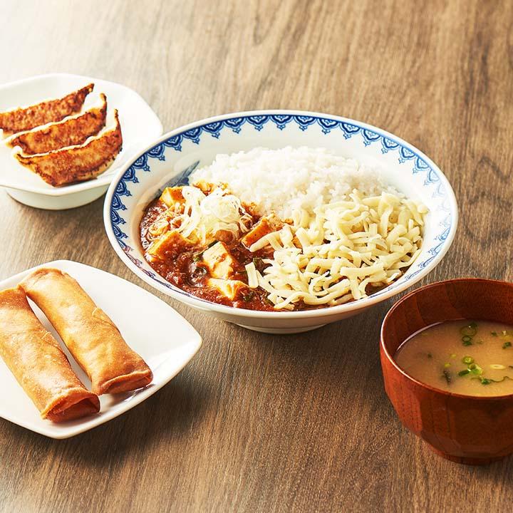 チーズマーラー飯定食セット (マーラー飯250+餃子3ケ+春巻き2本+みそ汁) チーズ