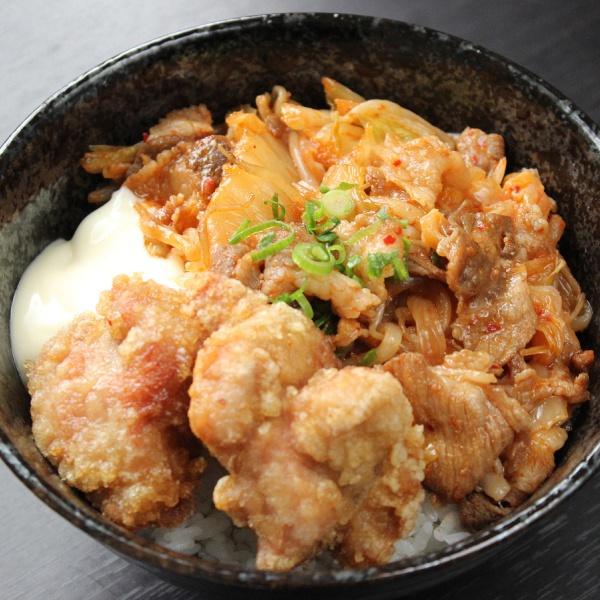 豚キムチ丼(300)(からあげ2個付)