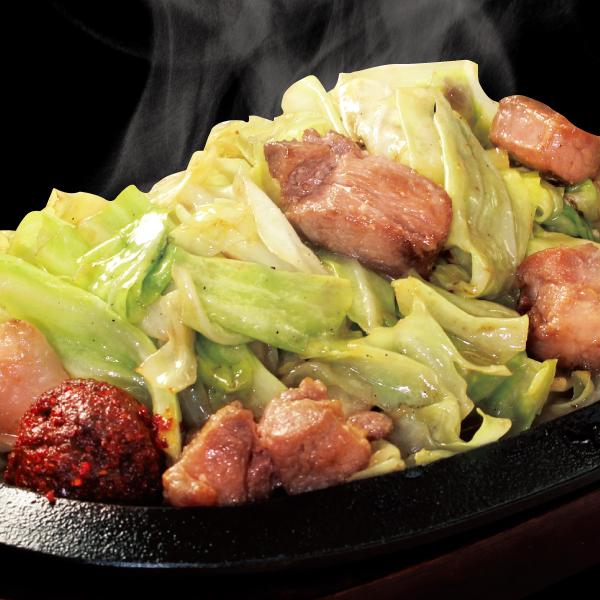 野菜たっぷり豚からし味噌1人前(単品)